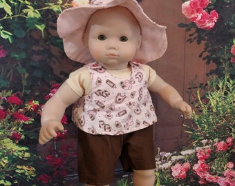 Three Piece Summer Outfit for 15 1/2 inch baby dolls