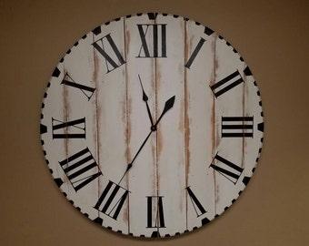 "46in ""Maggie"" farmhouse wall clock - Oversized wall clock - Oversized farmhouse wall clock - large clock - big clock - trending - popular"