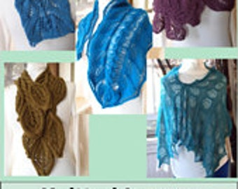 Scarf Knitting Pattern Collection Knitted Leaves