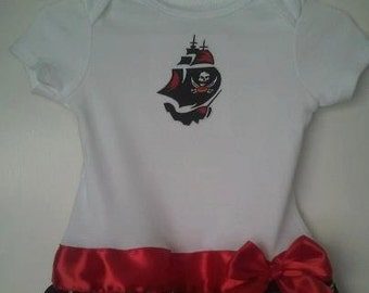 Tampa Bay Buccaneers inspired baby girl outfit