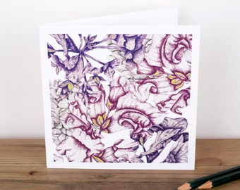 Floral Decay Greetings Card