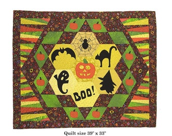 Halloween Quilt pattern Boodazzled
