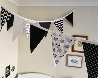 Tribal Animals // Bedroom Decor // Flags // Room Bunting // Room Flags // Pennants
