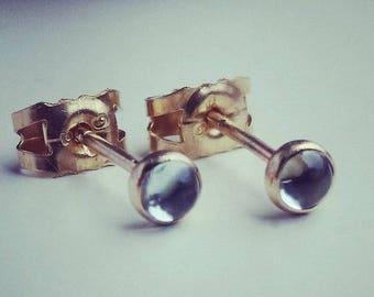 Gold topaz stud earrings