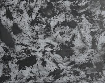 No.07 [Grey and Black Abstract Painting]