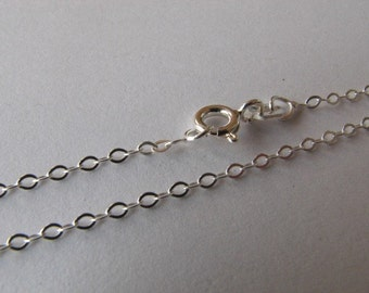 25 Sterling Silver 18 inch Flat Cable Chains