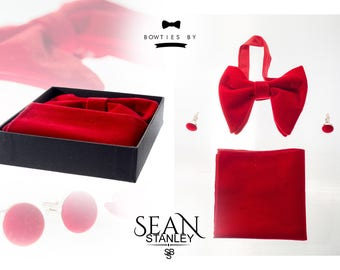 Men's Oversized/Big Velvet Bow Tie
