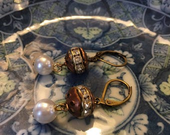 Vintage Rondelle earrings