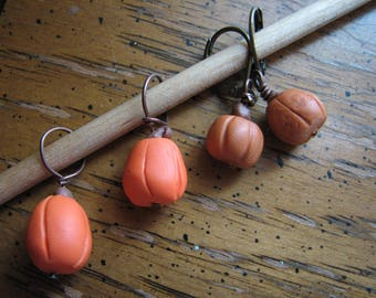 Pumpkin stitch marker | crochet | knitting | handmade | supplies | miniature