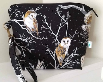 Owls and Full Moon Large Project Bag
