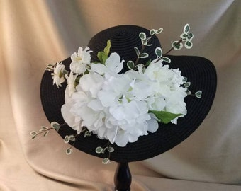 KENTUCKY DERBY HAT Black and White