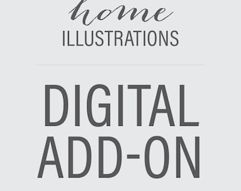 Custom Home Illustration — DIGITAL ADD-ON