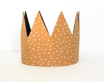 Children's crown, Birthday crown, fabric crown, pretend play crown, kids crown, handmade crown, modern crown, toddler crown, party crown