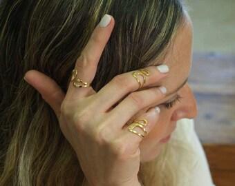 Names of God ring, Dainty ring, Gold Filled ring,  Evil eye ring, Midi ring, Pinky ring, Kabbalah ring