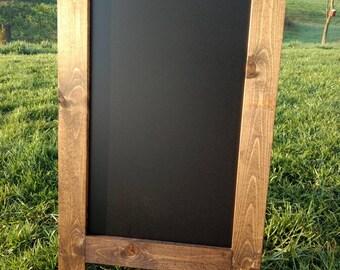 Extra large double sided with legs easel sandwich chalkboard sidewalk chalkboard dark walnut finish A frame blackboard outdoor sign