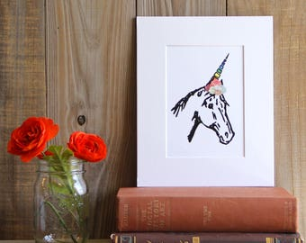 Unicorn Frida Print, Unicorn, Magic, Animals, Animal Art, Nursery, Frida, Art Print