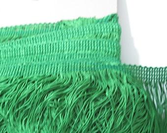 """Lumineux vert Chainette Fringe 15"""" Trim, Costumes de danse, clapet garniture, garniture de gland, décoration intérieure, garniture fournitures de couture, à la verge"""