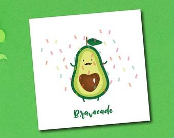 bravacado greeting card congratulations well done celebration