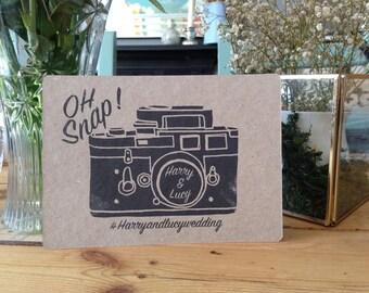 instagram hashtag wedding vintage style camera card rustic printable digital