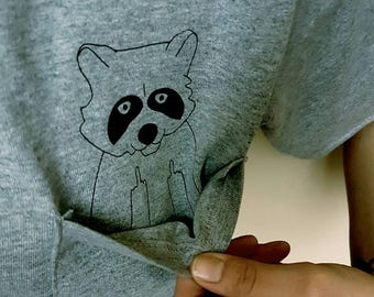 Case of the Mondays Middle Finger Raccoon Pocket Shirt