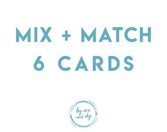 Greeting Card Bundle Deal, Six Cards Bundle, long distance boyfriend gift, boyfriend gift, long distance boyfriend card