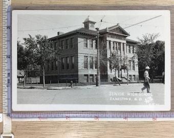 Vintage Old Post Card Senior High School Jamestown ND No Post Mark Unused