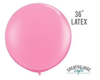 "36"" PINK giant latex balloon - Perfect for weddings, birthdays, photography props"