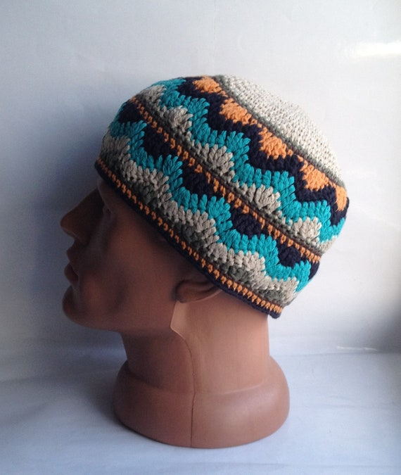 Kufi Hat Skull Cap Crochet Kufi Mens Short Beanie Men Kufi