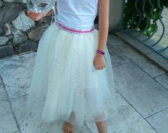 Princess tulle tutu skirt multicolored sequins