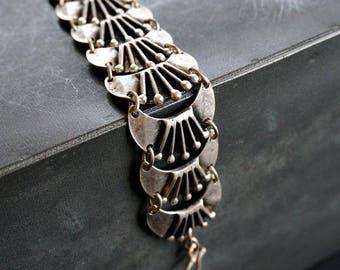 Maya Silver Bracelet Tribal Boho Jewelry