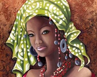 Black Art Cross Stitch Pattern - Black Woman Cross Stitch - Hand Embroidery - African Woman Pattern - Printable Embroidery - African Prints
