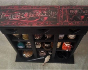The BLACKHEART HERBAL CABINET