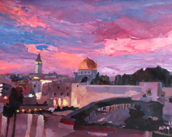 Jerusalem At Sunset - Limited Edition Fine Art Print