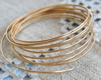 Wire 20 Gauge Square 12Kt Jewelry Wrapping Gold Filled 5 Feet