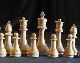 Chess Set Club sized Staunton Chess Set Hand turned   on Etsy custom chess sets, custom chess pieces, custom chess boards