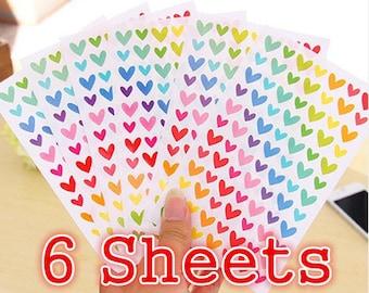 Korea Seal Sticker, Love seal sticker, 6 Sheets Color Seal Sticker, , FUNNY Sticker World