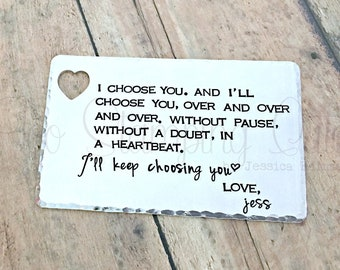 Wallet Card | Gift For Him | Wedding Gift | For Him | Anniversary Gift | Husband Gift | Birthday | Gift For Husband | Couple | Personalized