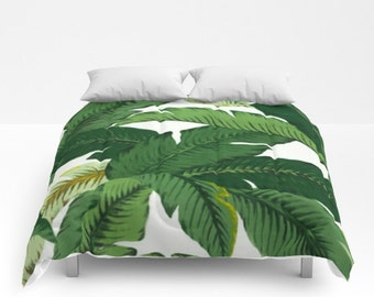 Banana Leaves Duvet Cover Palm Leaves Comforter dorm bedding tropical leaf print girls bedding twin xl king queen full duvet covers