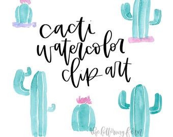 Cacti Watercolor ClipArt | Cactus, Watercolor Clip Art