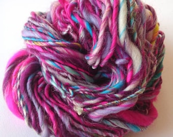 Hand spun single ply art yarn