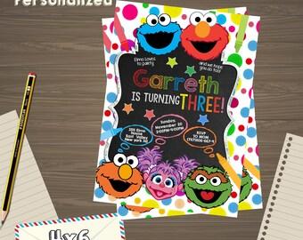 Elmo Invitations, Elmo Invite, Elmo Invitation, Elmo birthday, Elmo Party, Elmo Birthday, Elmo birthday party, Elmo, Elmo  sesame