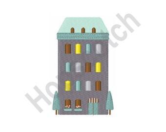 Hotel - Machine Embroidery Design, Apartment Building