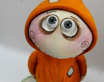 OOAK Halloween art Doll Bedtime Grimmy made to order