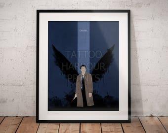 Castiel Supernatural Poster Print