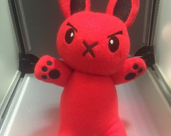 Rabbit Bunny Plush Plushie Toy Rufus the Red Rabbit