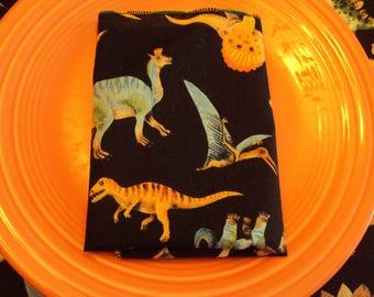 Dinosaur napkins for little hands, lunch box napkins, stocking stuffers