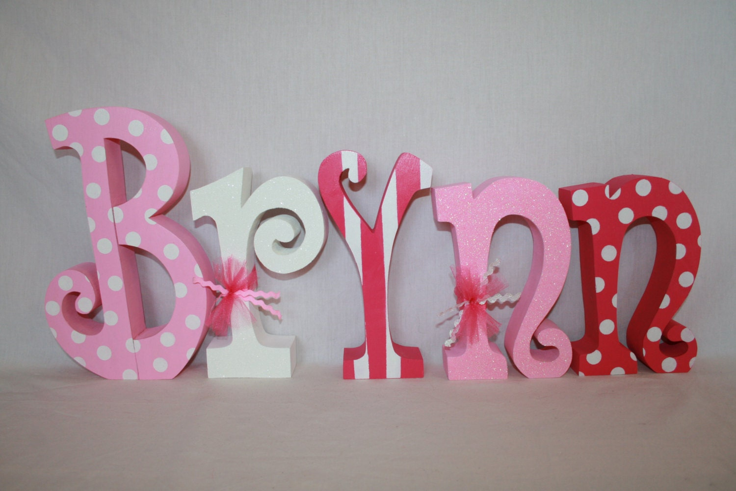 Wood Letters Baby Name Letters Nursery Decor For Girl 5