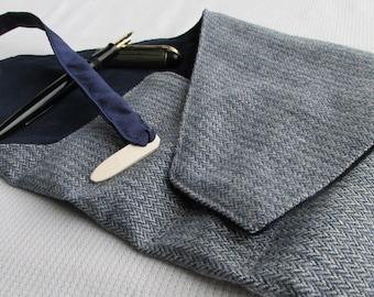 Wool and Velvet Four-Pen Wrap, Pen Roll, Pen Case