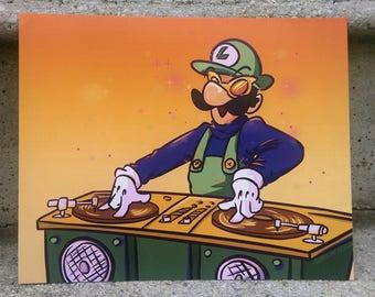 DJ BATTLE- Super Mario Bros Super Show Prints