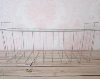 Vintage Wire Basket Metal Industrial Farmhouse Decor Country Metal Wire Basket All Purpose Basket